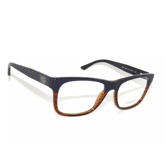 Versace Accessories   Eyeglasses 3199 Blue And Brown Frame   Poshmark